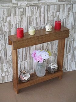 Small accent table, Skinny Side Table, Narrow End Table,Entryway Table, Wood Table, Nightstand,  ...