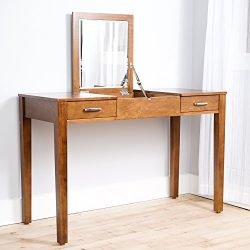 "Hives and Honey Hives & Honey ""Ainsley"" Vanity Desk, Brown"