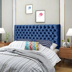 Hunter Navy Blue Velvet Queen/ Full Headboard