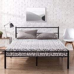 Zinus Metal Platform Bed with Headboard and Footboard / Premium Steel Slat Support / Mattress Fo ...