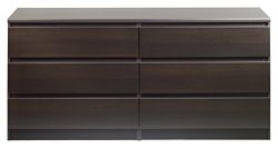 Tvilum 7029620 Scottsdale 6 Drawer Double Dresser, Coffee