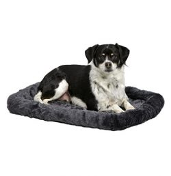 MidWest Deluxe Bolster Pet Bed for Dogs & Cats; Pet Bed Measures 24L x 18W x 2.25H Inches &a ...