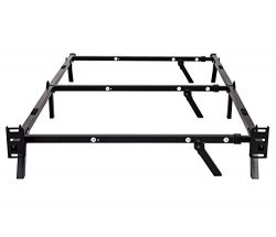 Sleeptune Compact Adjustable Steel Bed Frame / For Box Spring & Mattress Set / Assembles In  ...