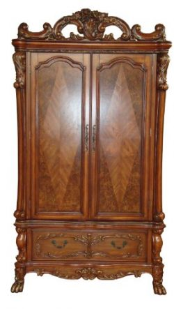ACME 12147 Dresden TV Armoire, Cherry Oak Finish