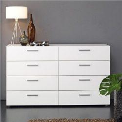 Tvilum Austin 8 Drawer Double Dresser in White