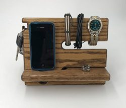 Oak NightStand Docking Station / Valet / Charging Dock / Oak Dock / Watch Holder