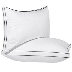 SONGMICS Gusseted Bed Pillows Customizable (2-Pack) Super Soft & Comfortable Hypoallergenic  ...