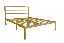 Signature Sleep Metal Platform Bed With Headboard, Modern Style, Full Size – Gold