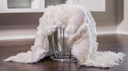 Chanasya Super Soft Faux Fur Fake Sheepskin White Sofa Couch Stool Casper Vanity Chair Cover Rug ...