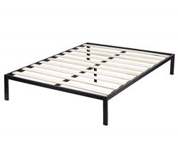 BestMassage Platform Bed Frame Queen Size Mattress Foundation Wooden Supportive Slats