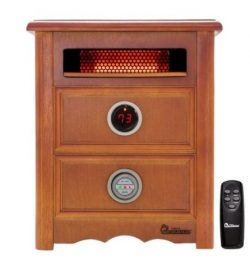 Dr Infrared Heater DR999, 1500W, Advanced Dual Heating System with Nightstand Design, Furniture- ...