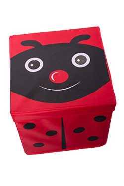 Kid's Cushion Top Ladybug Collapsible Toy Storage Organizer by Clever Creations | Toy Box  ...
