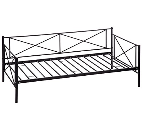 BestMassage Victoria Metal Daybed, Metal Sofa Bed Frame ,Multifunctional, Includes Metal Slats, Twin
