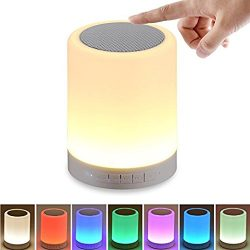 Portable Night Light Bluetooth Speaker, WIRELESS Touch Controlled LED Color Changing Speaker, Be ...