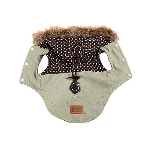 Pet Cold Weather Coat,Small Dog Puppy Winter Padded Outfit Warm Garment Dog Hooded Leisure Fur C ...
