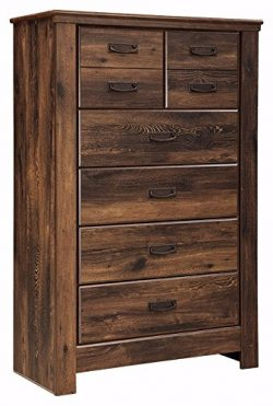 Ashley Furniture Signature Design – Quinden Chest of Drawers – 5 Drawers – Vin ...