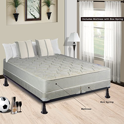 Spring Sleep 9″ Hollywood Collection Fully Assembled Othopedic Mattress & 5″ Spl ...