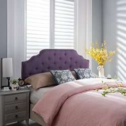 Luella Purple Fabric Queen/Full Headboard