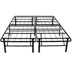 Classic Brands Hercules Heavy-Duty 14-Inch Platform Metal Bed Frame | Mattress Foundation, Twin XL