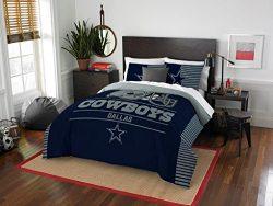 Dallas Cowboys – 3 Piece FULL / QUEEN SIZE Printed Comforter & Shams – Entire Se ...