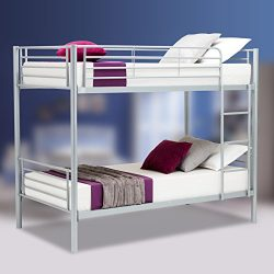 Mecor Twin over Twin Metal Bunk Beds Frame Kids /Adult Children Bedroom Furniture with Ladder ,  ...