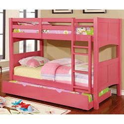 Furniture of America Colorpop Modern Twin-size Pull-out Trundle Strawberry Pink Pink Finish