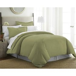 ienjoy Home Luxury Collection Soft Brushed Microfiber Duver Cover Set, Queen, Sage