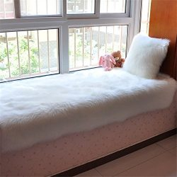 Super Soft Faux Fur Fake Sheepskin Sofa Couch Stool Casper Vanity Chair Cover Rug / Solid Shaggy ...