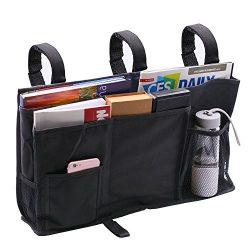 Startostar 8 Pocket Bedside Storage Bag Caddy Hanging Organizer Improved Strap Design with Bigge ...