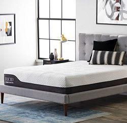 LUCID 12 Inch Full Hybrid Mattress – Bamboo Charcoal and Aloe Vera Infused Memory Foam &#8 ...