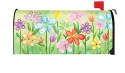 Toland Home Garden Spring Blooms Colorful Flower Floral Magnetic Mailbox Cover