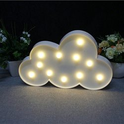 Staron Lighted Cloud Sign LED Night Lights, LED Cute Baby Light Nursery Lamp Children's Be ...