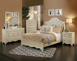 Sandberg Furniture 354D Marilyn Bedroom Set, Queen