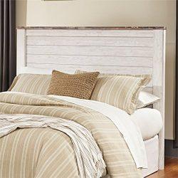 Ashley Furniture Signature Design – Willowton Full Panel Headboard – Contemporary St ...