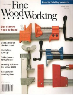 Taunton's Fine WoodWorking October 2004, No. 172 (Favorite Finishing Products, Build a Sha ...