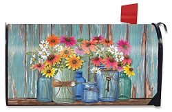 Farm Fresh Flowers Spring Magnetic Mailbox Cover Floral Standard Briarwood Lane