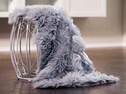 Chanasya Super Soft Faux Fur Fake Sheepskin Sofa Couch Stool Casper Vanity Chair Cover Rug / Sol ...