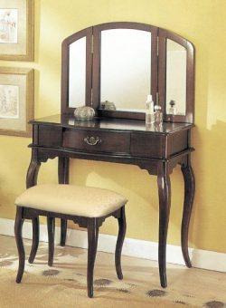 William's Home Furnishing Espresso Tri-mirror Vanity