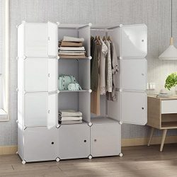 Tespo Portable Closet for Hanging Clothes, Armoire Wardrobe for Bedroom, Storage Cube Organizer, ...