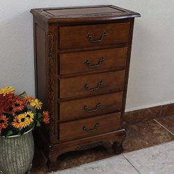 Bedroom Traditional Elegant Brown Wood 5-drawer Lingerie Armoires Chest with Storage