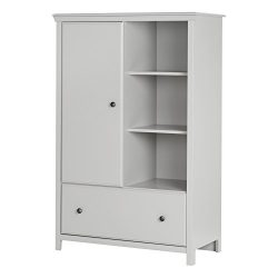 South Shore Cotton Candy Armoire with Drawer, Soft Gray
