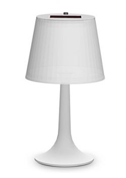 Accent Table Lamp White Solar Powered LED Basic Desk Table Lamp for Bedroom and Outdoor Dining-t ...