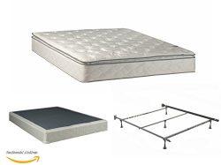 Continental Matress Mattress, 10-Inch Fully Assembled Pillow Top Orthopedic Mattress and Box Spr ...