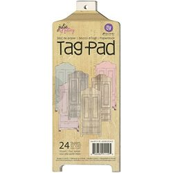 Prima Marketing Julie Nutting Mixed Media Tag Pad 3.5″X8.5″ 24/Pkg-Armoire