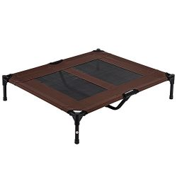 LazyDaze Hammocks Pet Bed Durable Powder Coated Steel Frame 600D PVC Oxford Fabric With Textlien ...