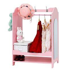 Peach Tree Children Girls' See and Store Dress Up Center , Pink Armoire, Dresser Kids̵ ...