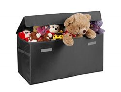 Collapsible Toy Chest for Kids (Large) Storage Basket w/ Flip-Top Lid | Organizer Bin for Bedroo ...