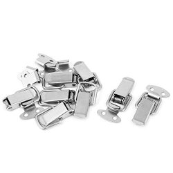 uxcell Toolbox Box Spring Loaded Straight Loop Toggle Catch Latch Hasp 8pcs