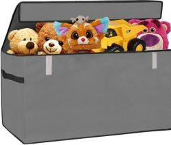 Collapsible Toy Chest Box Organizer Flip-Top LID 30inch Large Organizer for Girl or Boy Gifts Co ...