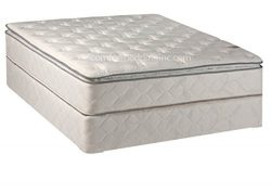 10-Inch Plush Pillowtop Orthopedic Mattress and Box Spring
